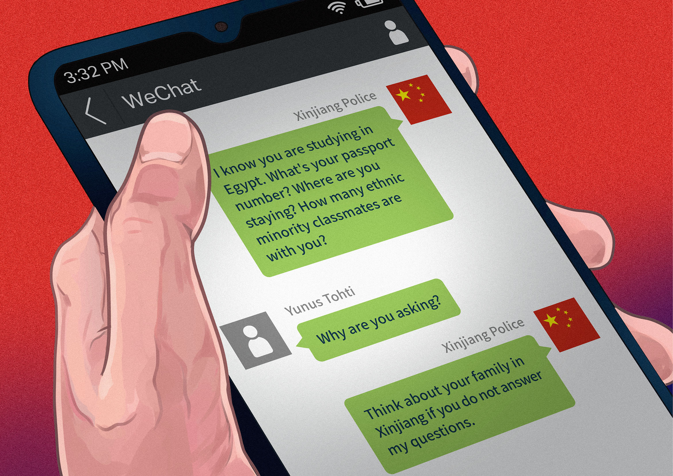 (WeChat messages were simplified based on testimony by Yunus Tohti)