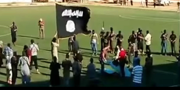 Public execution' in football stadium shows Libya's descent
